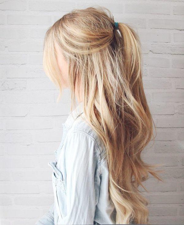 Einfache und schnelle Frisuren fr lange Haare 3