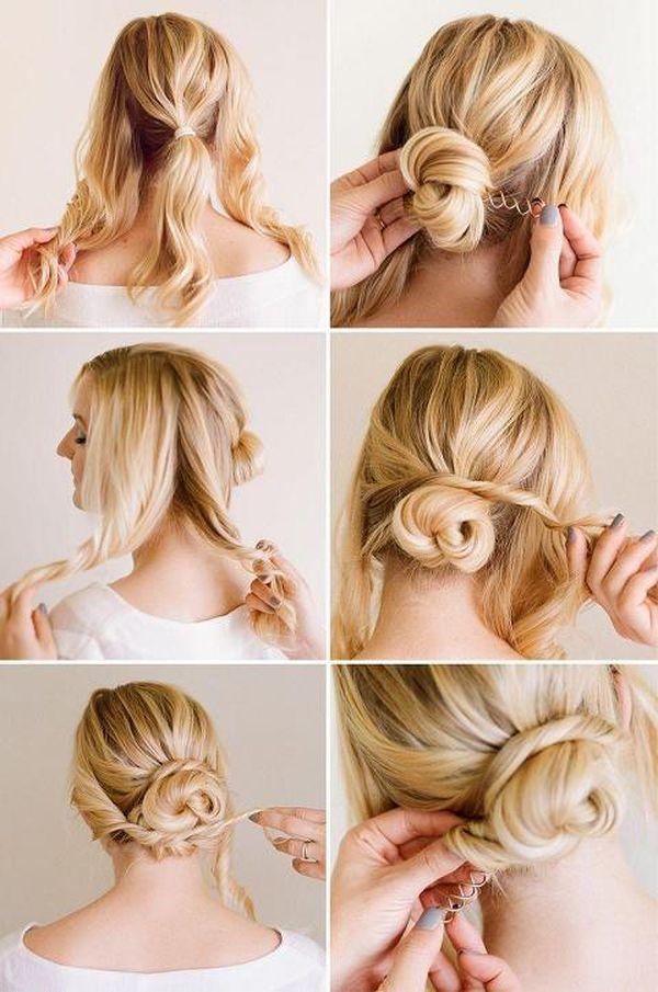 Elegante festliche Frisuren selber machen 3