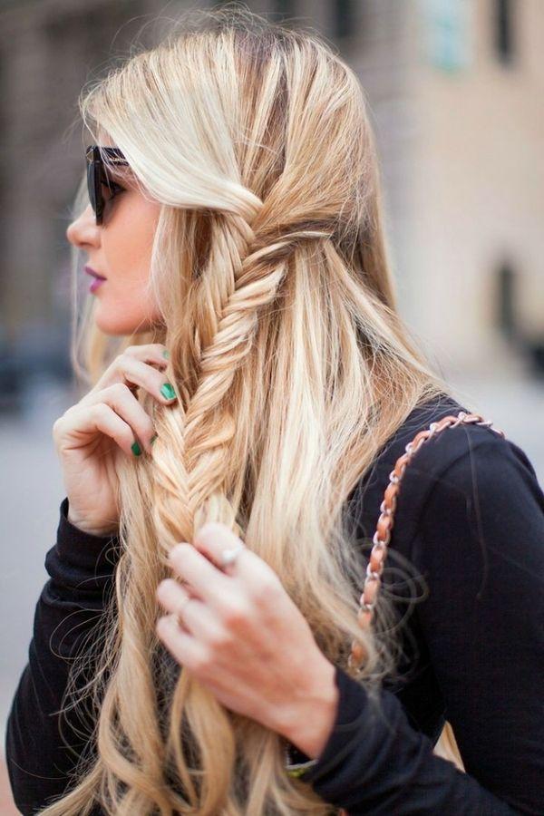 Frisuren mit seitlich geflochtenen Haaren 3