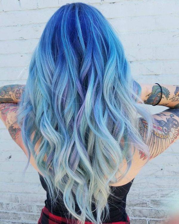 Haare blau frben 4