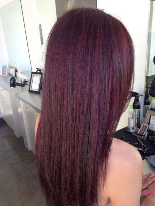 Haarfarbe Mahagoni Rot 3
