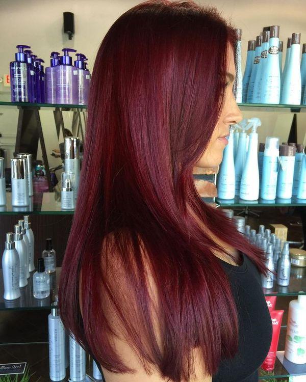 Haarfarbe Mahagoni Rot 4