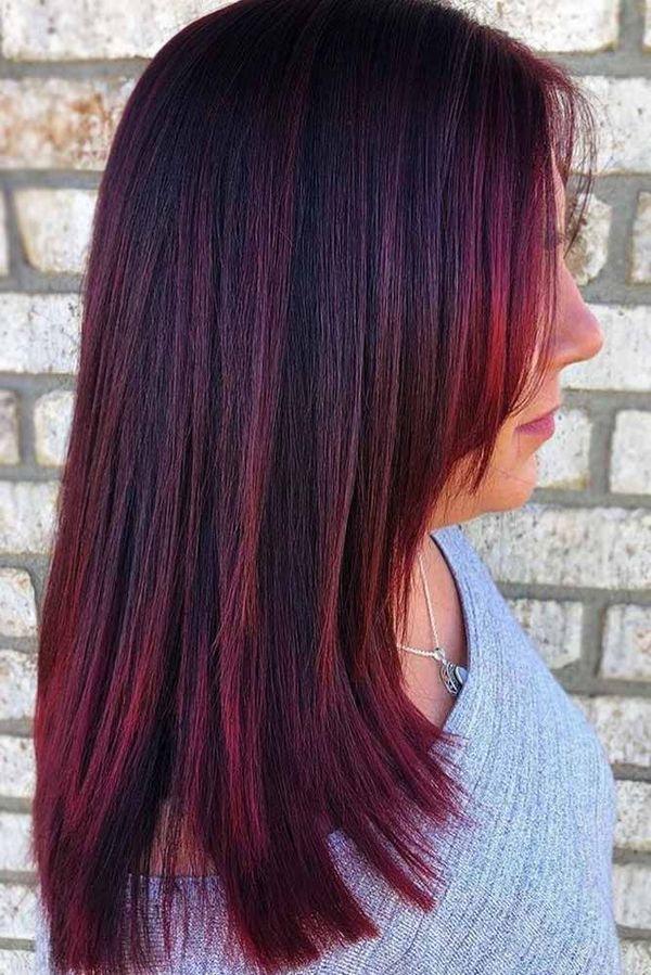 Haarfarbe Mahagoni Rot 5