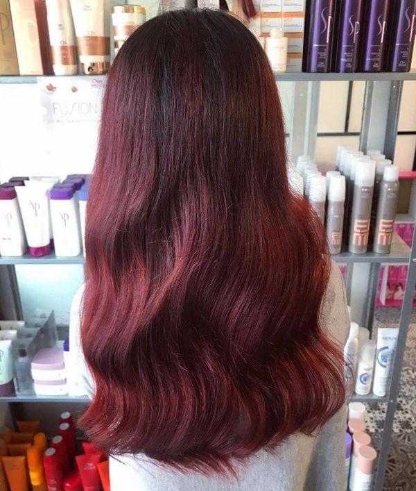 Haarfarbe Mahagoni Rot 6