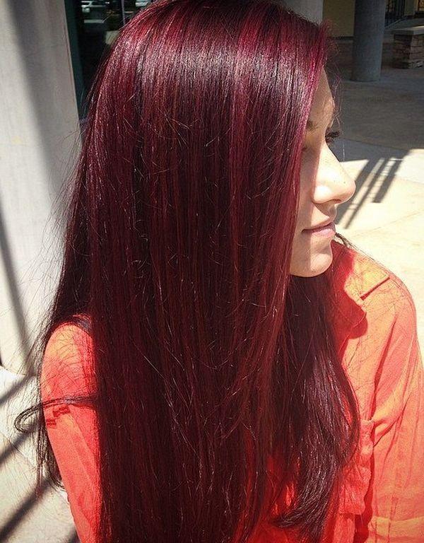 Haarfarbe Mahagoni Rot 7