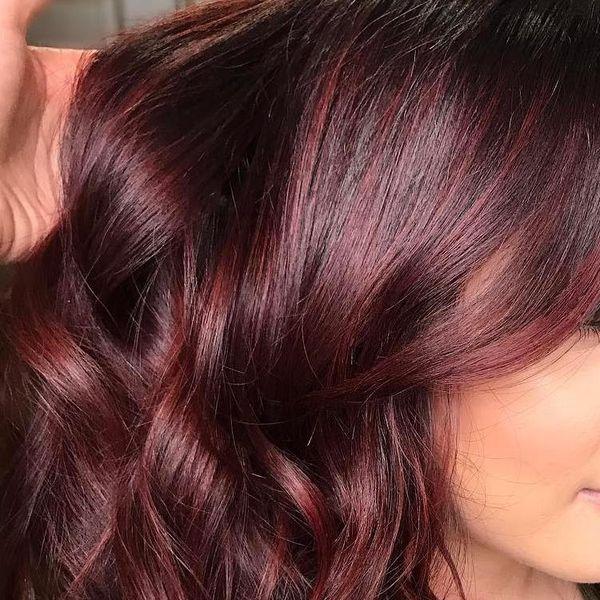 Haartrend Mahagoni Haare 2