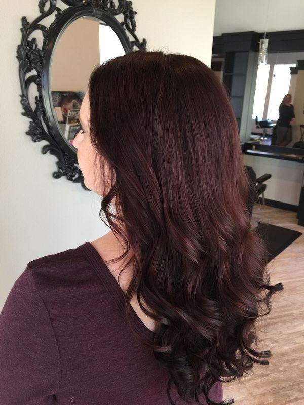 Haartrend Mahagoni Haare 6