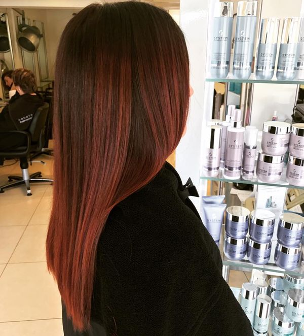 Haartrend Mahagoni Haare 7