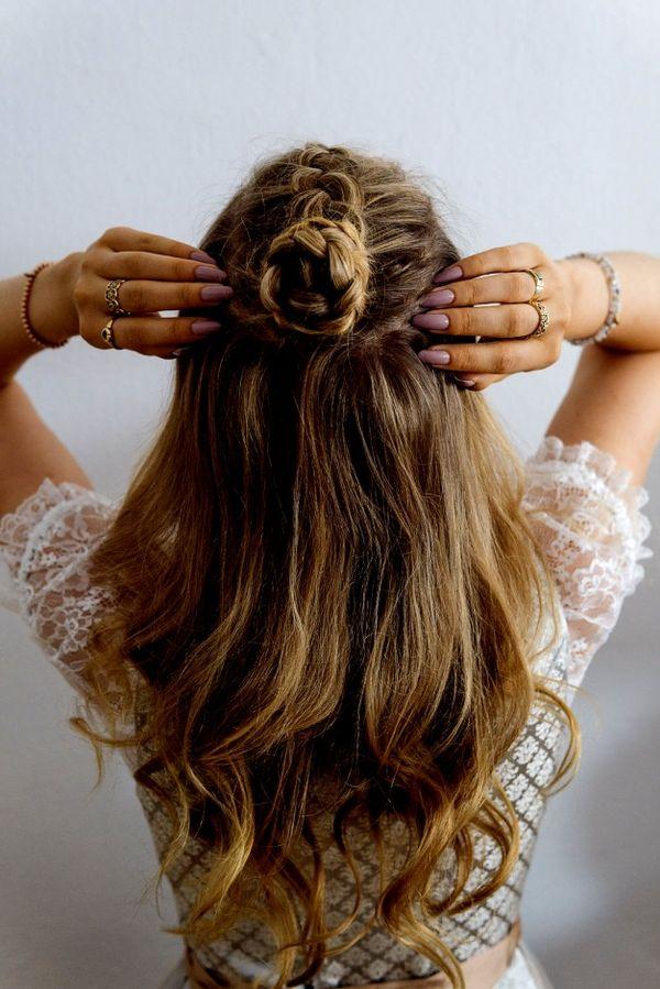 Halboffene Abiball Frisuren fr Lange Haare 1