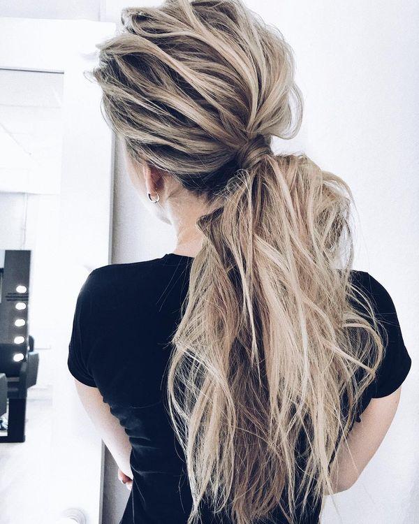 Ideen wie man lange Haare stylt 1