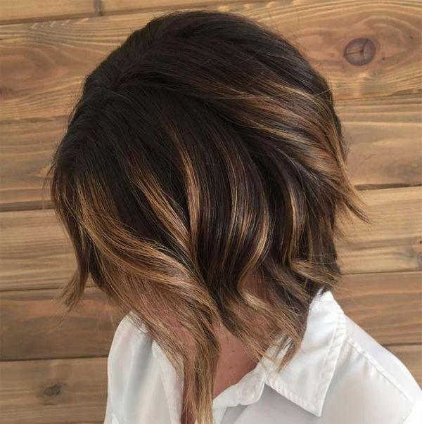 Kurze Haare mit Balayage 3