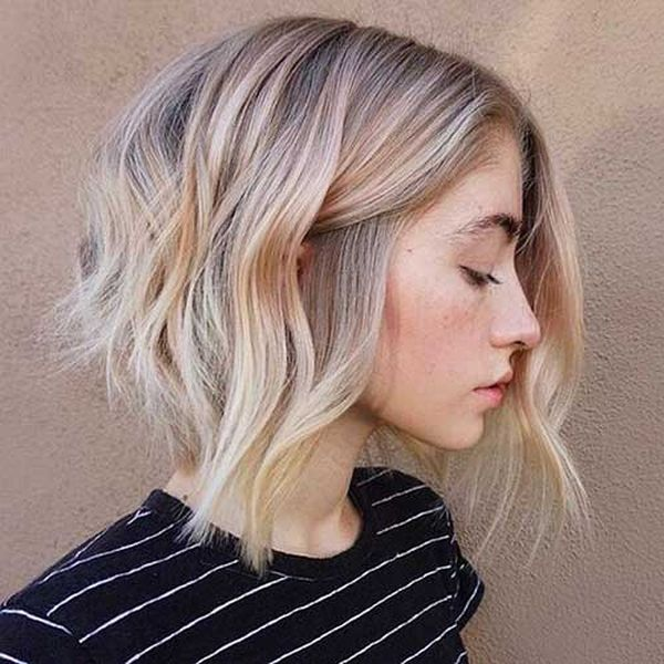 Kurze Haare mit Balayage 5