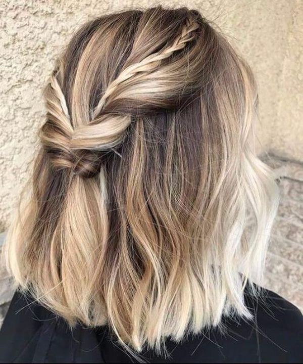 Kurze Haare mit Balayage 6
