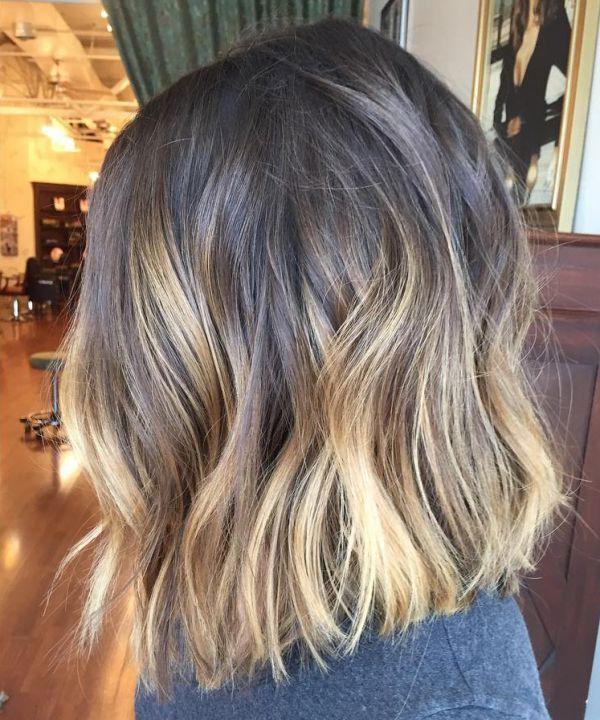 Kurze Haare mit braunblonden Strhnen 2