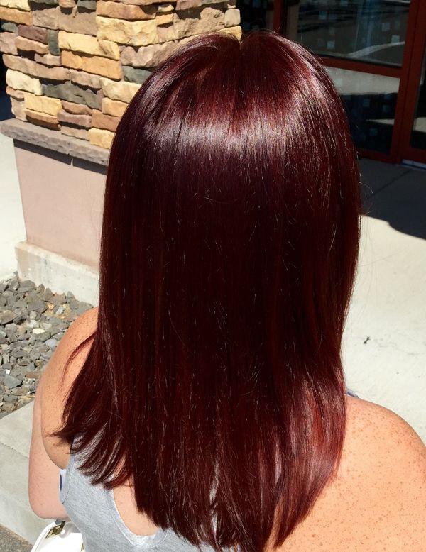 Mahagoni Rotbraune Haare 1