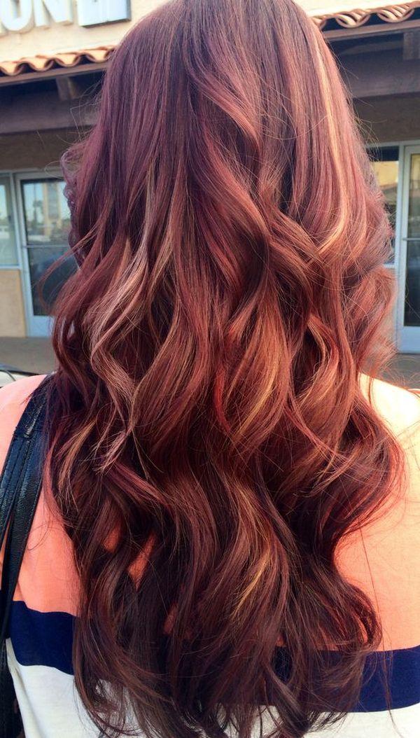 Mahagoni Rotbraune Haare 2