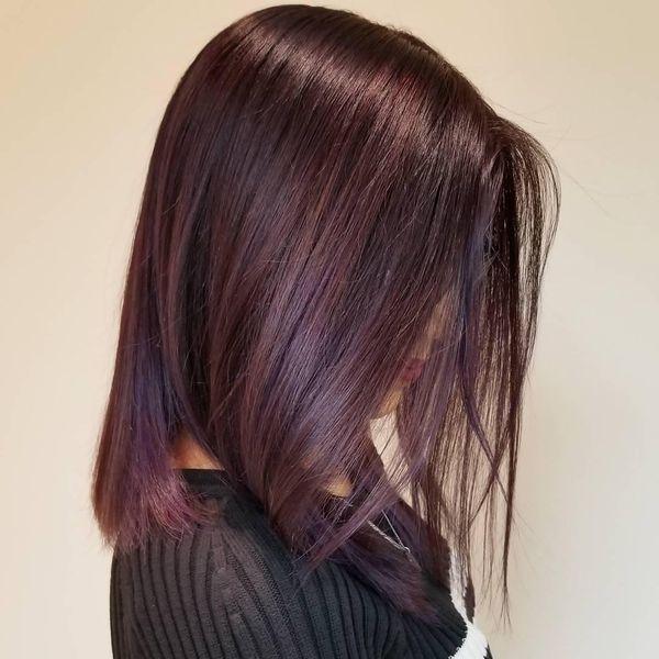 Mahagoni Rotbraune Haare 3