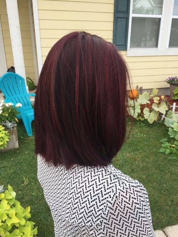 Mahagoni Rotbraune Haare 6