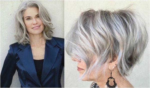 Mittellange Frisuren fr Frauen ab 50 1