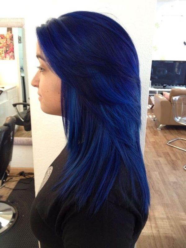 Moderne Trends der dunkelblauen Haare 3