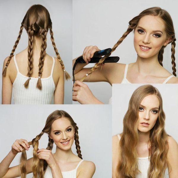 Offene Haarfrisuren fr lange Haare 2