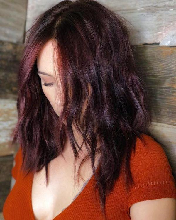 Trendige Mahagoni Haarfarbe Ideen 3