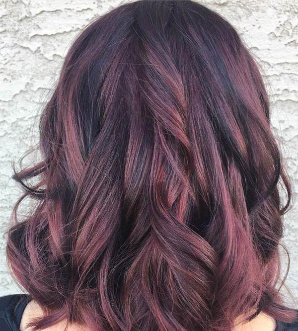 Trendige Mahagoni Haarfarbe Ideen 4