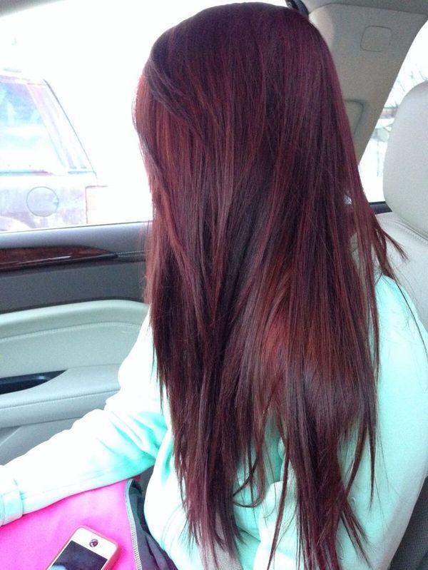Trendige Mahagoni Haarfarbe Ideen 5