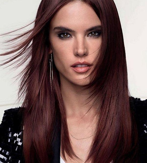 Trendige Mahagoni Haarfarbe Ideen 6