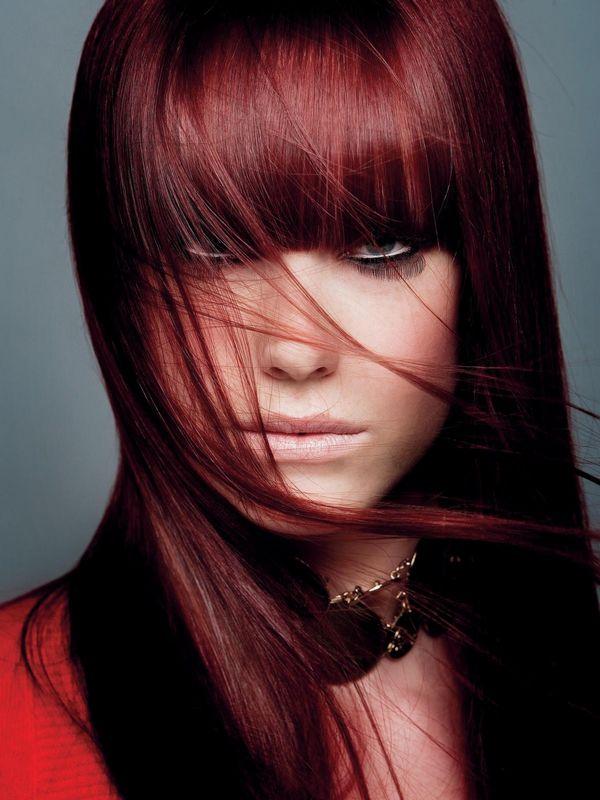 Trendige Mahagoni Haarfarbe Ideen 7