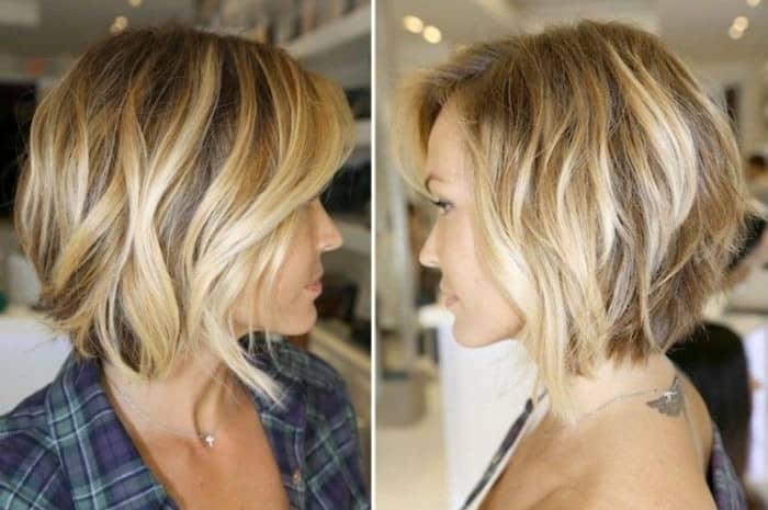 Bob Blond Haarschnitt mit Highlights