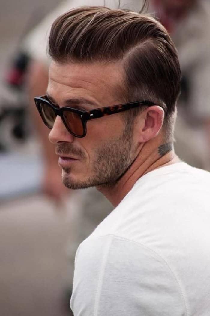 David Beckham sieht gut aus mit diesem Undercut