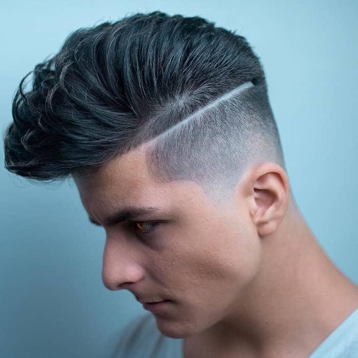 Die Scheitelfrisur für Männer mit langem Oberkopf