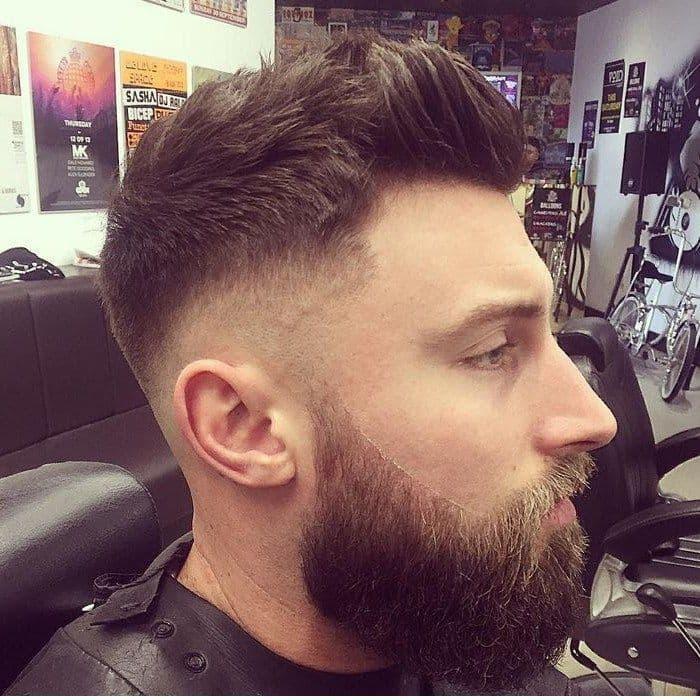 Boxerhaarschnitt für Männer mit dickem Haar