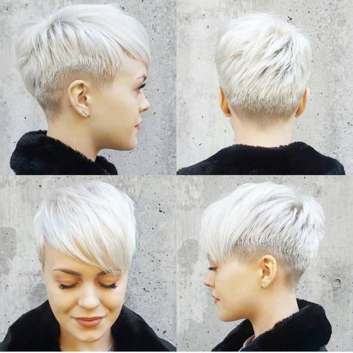 Sehr kurzes Haar mit Fade