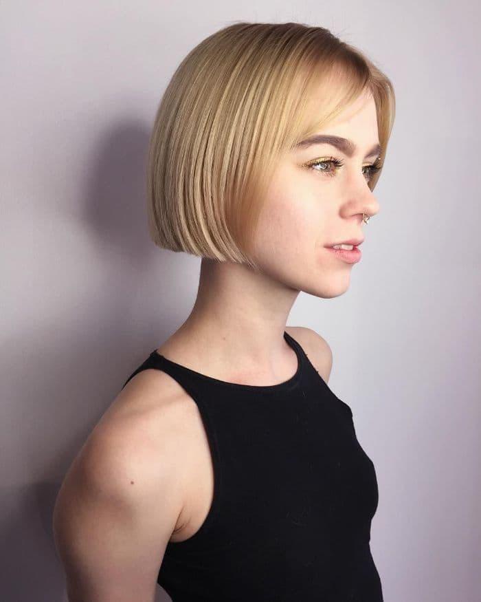 Der kurze Bob für Blondinen mit dünnem Haar