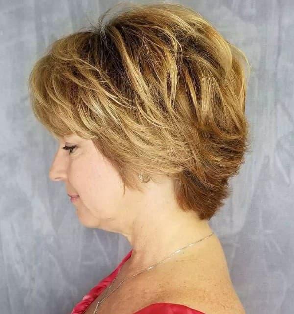 Fransig geschnitten Frisur