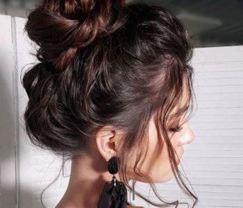 Messy Dutt für mittellanges Haar