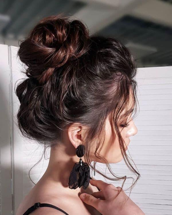 Messy Buns ideen für mittellanges Haar